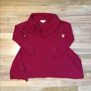 Knox Rose red cowl neck sweater.